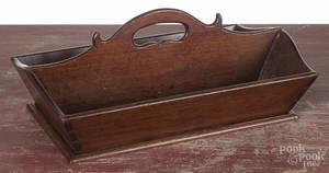 Walnut cutlery tray