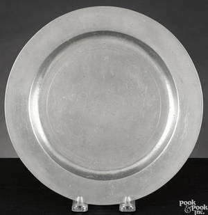 New York pewter plate ca 1780