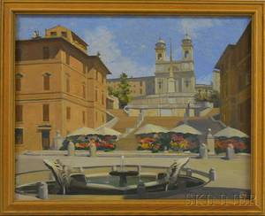 Continental School 20th Century The Spanish Steps Rome