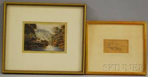 Two Works Attributed to Sir James Stuart British 17791849 Portrait Study of a Hand