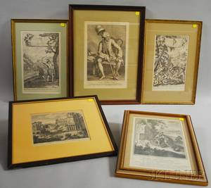 Five Framed 18th and 19th Century Engravings
