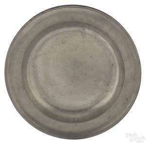 New York pewter deep dish ca 1785