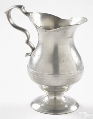Philadelphia or New York pewter creamer ca 1770