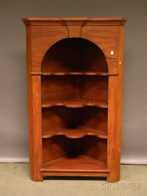 Stained Pine Corner Cabinet