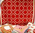 One Machinestitched and Three Handstitched Pieced Cotton Quilts