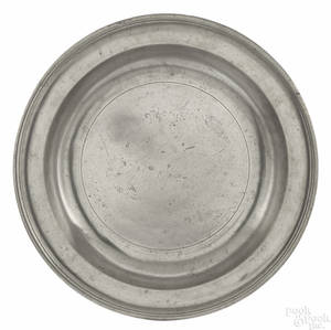 New York pewter deep dish ca 1780