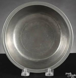 New York pewter basin ca 1775