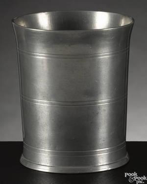 Castleton Vermont pewter beaker ca 1810