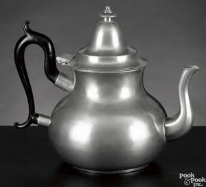 Boston Massachusetts pewter teapot ca 1825