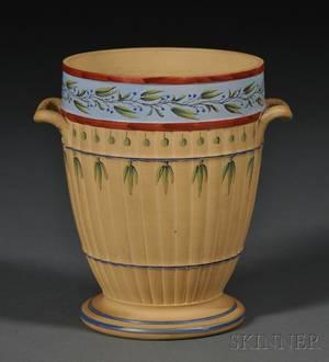 Wedgwood Lower Case Caneware Encaustic Decorated Vase