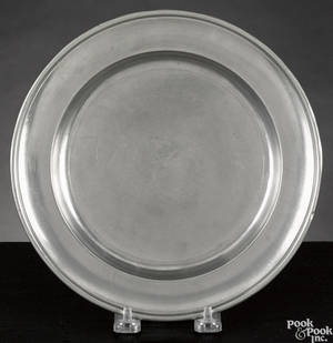 Baltimore Maryland pewter plate ca 1825