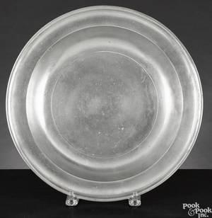 Hartford Connecticut pewter deep dish ca 1790
