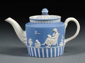 Wedgwood Blue Jasper Dip Teapot and Cover