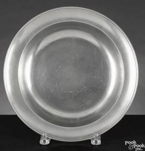 Philadelphia pewter deep dish ca 1815