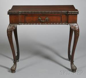 Victorian George IIstyle Mahogany Game Table