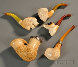 Five Carved Pipes