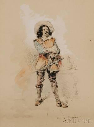 Enrique Serra y Auque Spanish 18591918 Sketch of a Cavalier