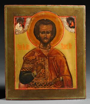 Russian Icon of St Theodore the Recruit