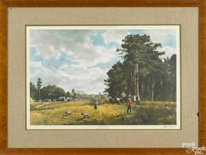 Ogden Pleisnner signed lithograph