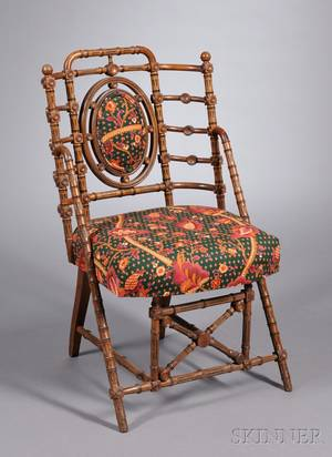 Signed George Hunzinger Walnut Side Chair