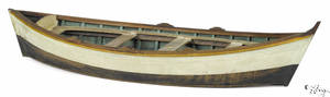 Miniature painted dory early 20th c