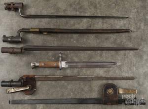 Six bayonets
