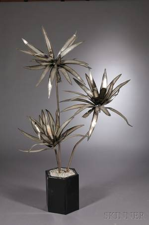 Potted Plant Sculpture Attributed to Curtis Jere