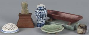 Chinese blue and white porcelain bud vase