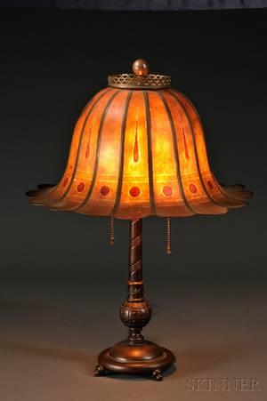 Mutual Sunset Lamp Company Art Deco Table Lamp