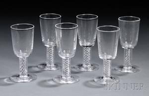 Six Steuben Cordials