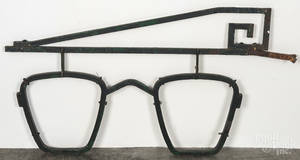 Painted cast iron opticians trade sign
