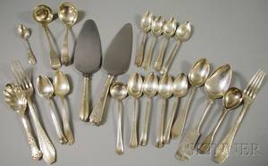 Twentytwo Assorted Mostly Sterling Silver Flatware Items