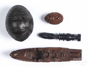 Asian and African carved items