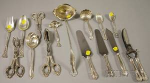 Group of Sterling Silver Flatware Serving Items