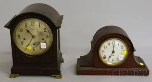 Two Mahogany Mantel Clocks