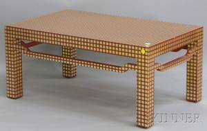 Lacquered Paintdecorated Modern Chinesestyle Wood Coffee Table