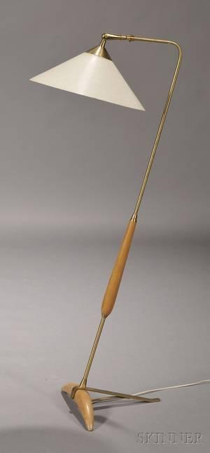 Midcentury Modern Brass Floor Lamp