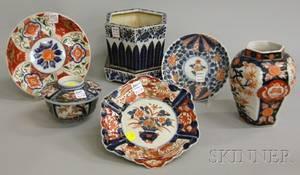 Six Pieces of Imari Porcelain