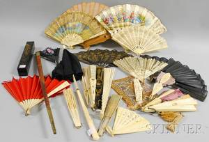 Collection of Hand Fans and Accessories