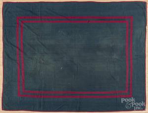 Doubleborder Amish plain cloth quilt