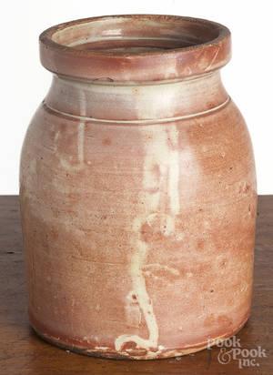 New England redware jar