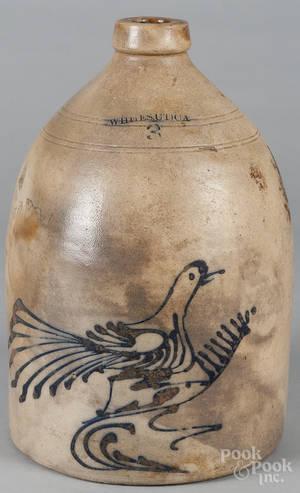 New York stoneware jug