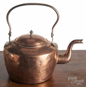Dovetailed copper kettle 19th c