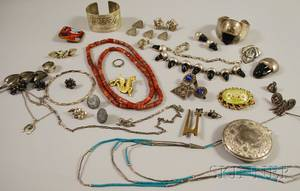 Small Group of Silver and Costume Jewelry