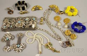 Group of Mostly Designer Costume Jewelry