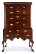 New York Chippendale mahogany high chest ca 1770