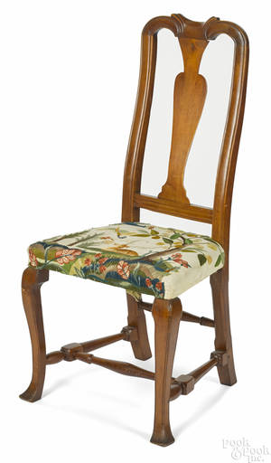 New England Queen Anne maple dining chair ca 1760