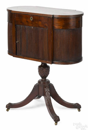 New York Federal mahogany sewing stand ca 1810