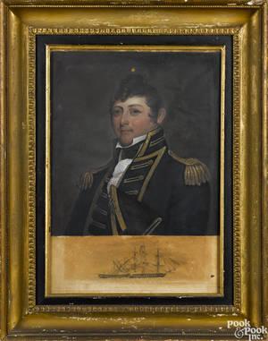 After Gilbert Stuart painted mezzotint of Captain Isaa Hull