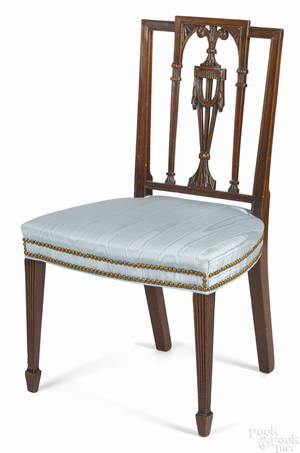 New York Federal mahogany dining chair ca 1805